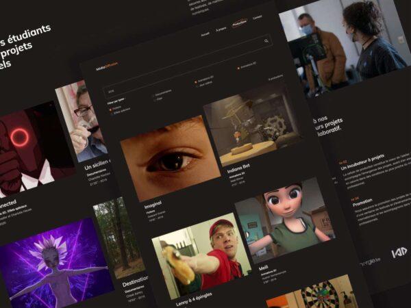 Nouveau site Médiadiffusion: travaux des étudiants accessibles en ligne